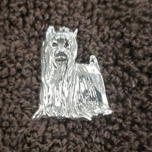 Yorkie charm sterling silver